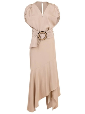 Silvia Tcherassi - Neutral Protea Belted Dress - Women