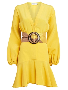 Yellow filis belted dress