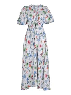Lirio Floral Print Silk Dress