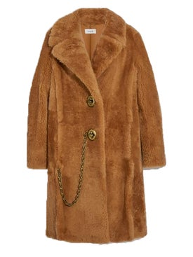 Coach - Caramel Shearling Coat - Women