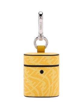 X Sarah Coleman Fisheye Logo AirPods Case Yellow