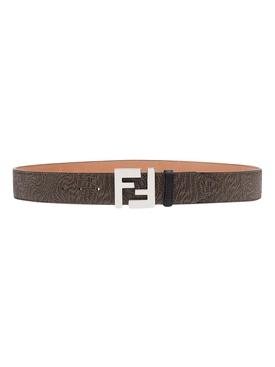 X Sarah Coleman Fisheye Logo Belt Brown