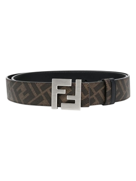 FF Reversible Logo Buckle Belt, Black