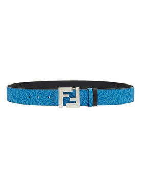 X Sarah Coleman Fisheye Logo Belt Blue