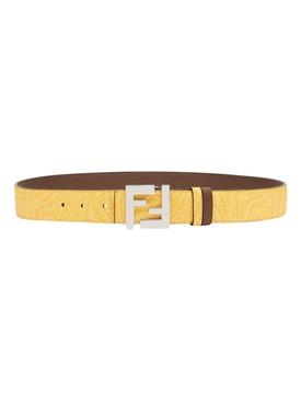 X Sarah Coleman Fisheye Logo Belt Yellow