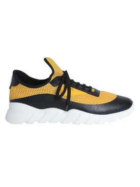 Yellow and black lace-up