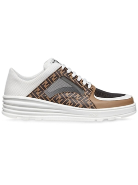 Paneled logo print low-top sneaker