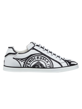 X Joshua Vides Black and white sneakers