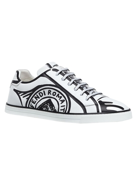 X Joshua Vides Black and white sneakers