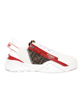 Flow White Leather Low-Top Sneakers