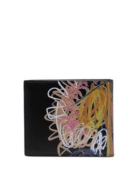 X Noel Fielding Signature Scribble Wallet BLACK