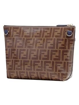 fendi mania double F logo clutch bag