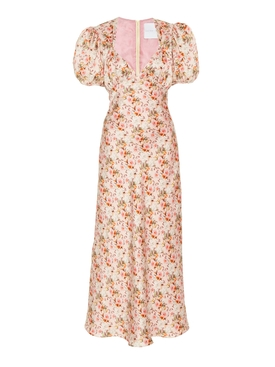 Titian Floral Silk Dress