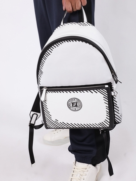 X Joshua Vides black and white backpack