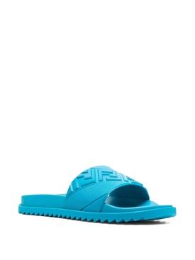 3D Logo Slide Sandals Turquoise