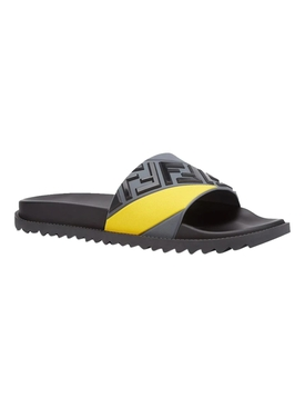 Rubber fussbetts Slide Sandal, BLACK