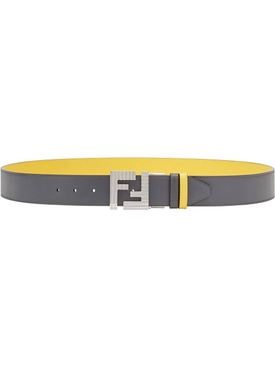 Fendi - Ff Reversible Belt Yellow - Women