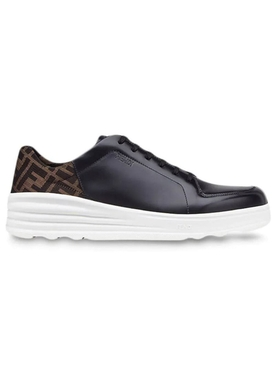 FF motif lace-up sneakers BLACK