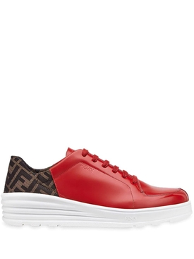 Fendi - Ff Motif Lace-up Sneakers Red - Men