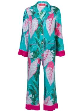 The Webster x Ritz Paris floral print pajama set BLUE