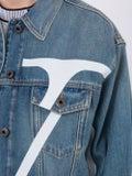 Valentino - V Logo Medium Blue Denim Jacket - Men