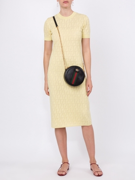 monogram devore t-shirt dress YELLOW