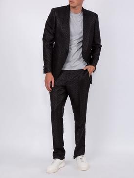 English Fit Monogram Wool Blend Jacquard Tuxedo