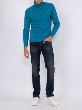 FITTED 5-POCKET STRAIGHT-LEG JEANS