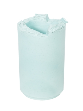 Light Blue opaque vase 25cm