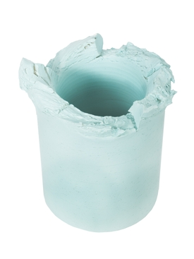Light Blue opaque vase 20cm