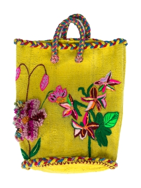 NATHALIE FLOWER SMALL BASKET YELLOW