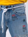 Off-white - Monogram Print Denim Jeans - Men