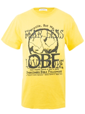 Yellow overcomers t-shirt