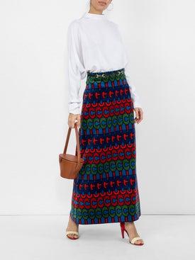 Gucci - Psychedelic Logo Print Skirt - Women