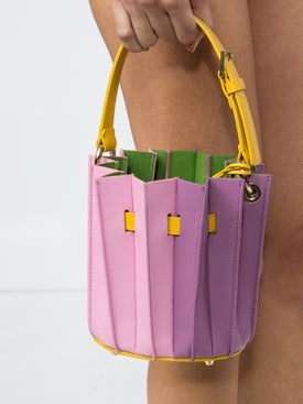 Sara Battaglia - Pleated Bucket Mini Bag - Women