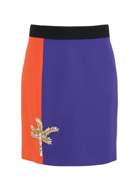 Fausto Puglisi - Multicolor Embellished Mini Skirt - Women
