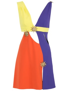 Fausto Puglisi - Multicolor Cut-out Mini Dress - Women