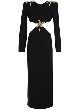 Fausto Puglisi - Palm Embellished Longsleeve Cut-out Dress - Women