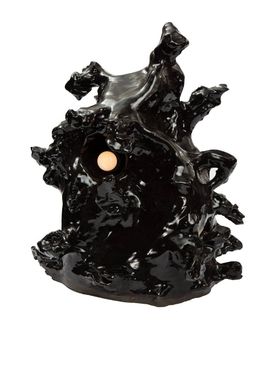 Abstract sculpture lamp BLACK