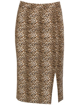 Marcia - Leopard Romantica Skirt Multicolor - Women