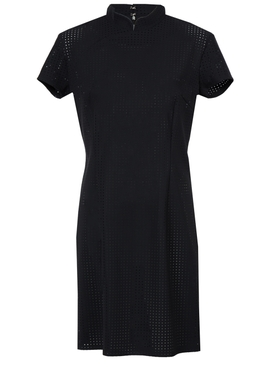 Marcia Perforated Dress BLACK
