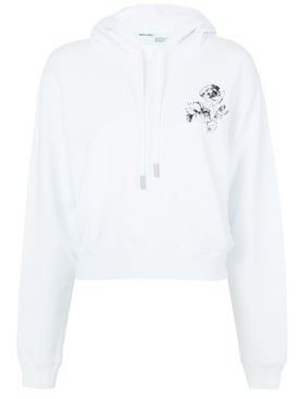 Off-white - Off-white X The Webster Exclusive Cropped Hoodie - Women