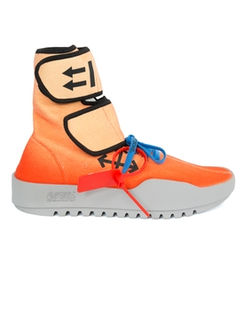 Off-White X The Webster Exclusive moto wrap sneakers ORANGE
