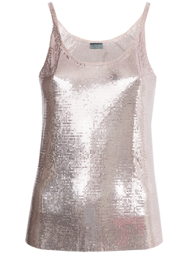 Paco Rabanne x The Webster pink metallic tank top PINK