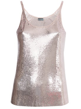 Paco Rabanne - Paco Rabanne X The Webster Pink Metallic Tank Top - Tanks