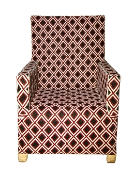 From The Tribe - Bespoke Diamond Pattern Chair Multicolor - Home