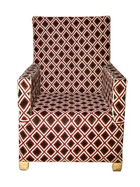 From The Tribe - Bespoke Diamond Pattern Chair - Home