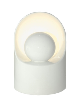 Tall Ceramic White Lamp WHITE