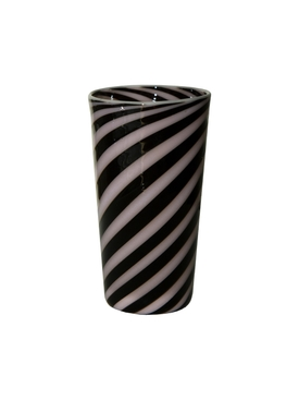 Black and Rose Spiral Tumbler MULTICOLOR