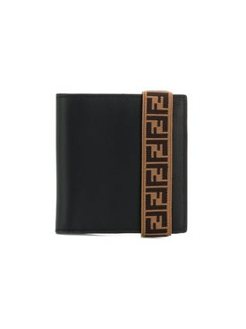 Fendi - Elastic Ff Strap Wallet Black - Men